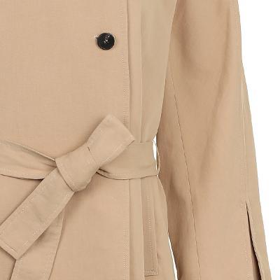 round neck slit detail coat